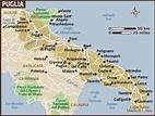 Mappa della Città di Provincia Regionale Italia: Puglia ...
