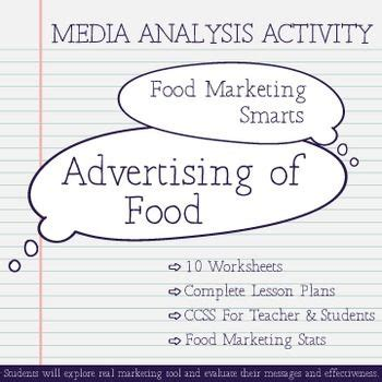 marketing and advertising media literacy with advertising of food analysis activity