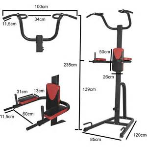 Chaise Romaine Musculation D Occasion by Station De Traction Multifonction Power Tower Rouge