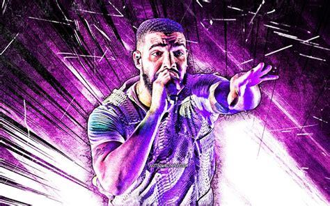 Descargar fondos de pantalla Drake el grunge de arte 4k