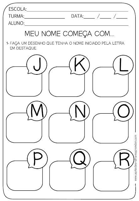 atividade pronta letra inicial alfabeto alfabeto