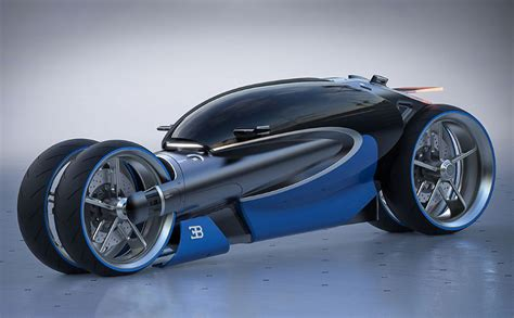 The Bugatti Type 100m Motorcycle Is As Futuristic And