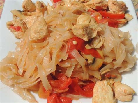 recettes de cuisine au wok recettes de tagliatelles de riz