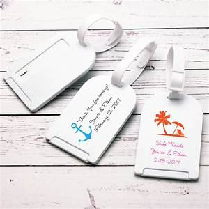 Beach theme personalized luggage tag favor beach theme for Wedding favor luggage tags