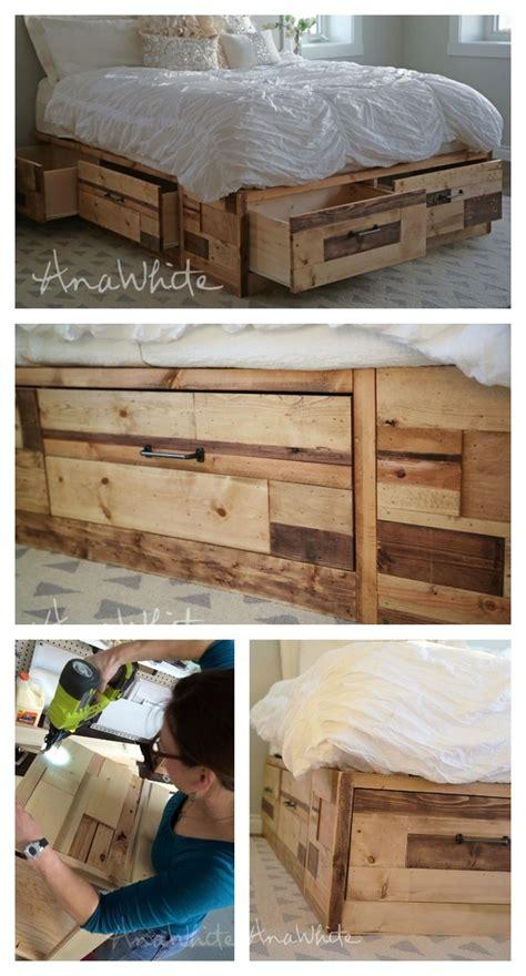 ana white brandy scrap wood storage bed  drawers