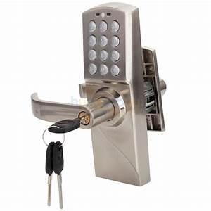 Left Handed Keypad Door Lock Keyless Password Code