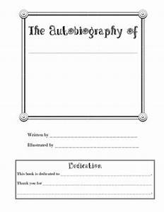 autobiography template ballin39 lesson ideas pinterest With autobiography cover page template