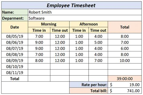create  timesheet  excel   templates