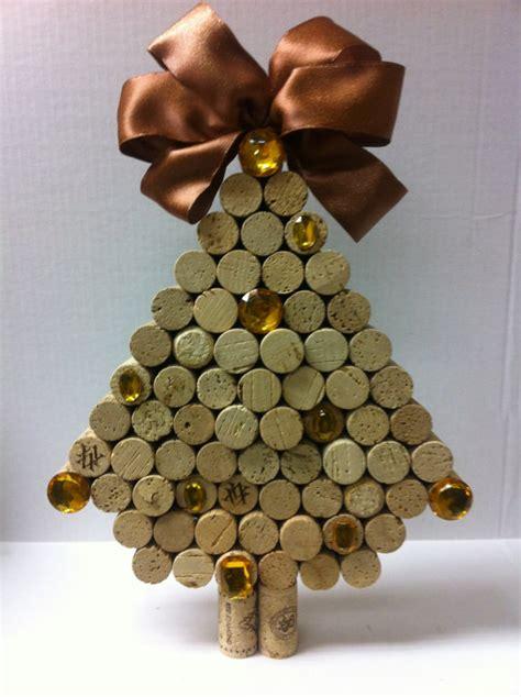 creative diy wine cork christmas decorations
