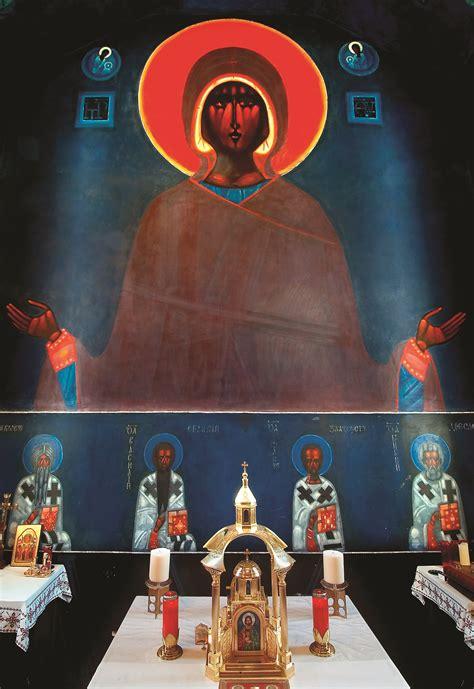 lourdes jerzy nowosielski night ukrainienne acquainted church eglise choeur fresques ukrainian