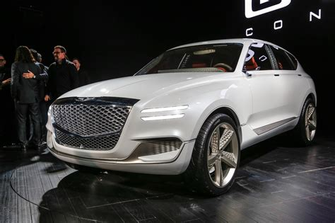 genesis gv fuel cell concept suv front  quarter  motor trend