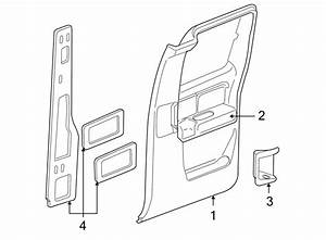 Chevrolet Silverado 2500 Door Interior Trim Panel  Rear
