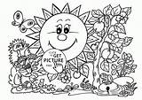 Coloring Garden Printable Tools Mewarnai Seasons Sunny Spring Gambar Angry Birds Awesome 1024 Garfield Wuppsy Sheets Popular Visit Sunflower Getcolorings sketch template