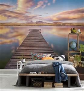 papier peint trompe l oeil pour chambre blog papiers With ordinary trompe l oeil exterieur jardin 14 deco salon carre