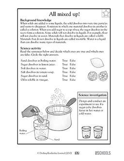 grade  grade science worksheets  mixed