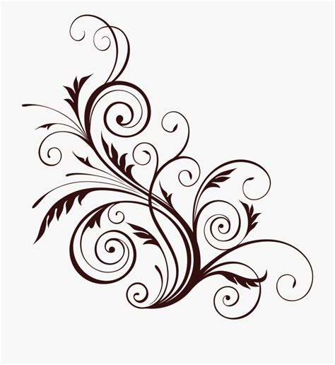 swirl clipart floral swirl floral transparent