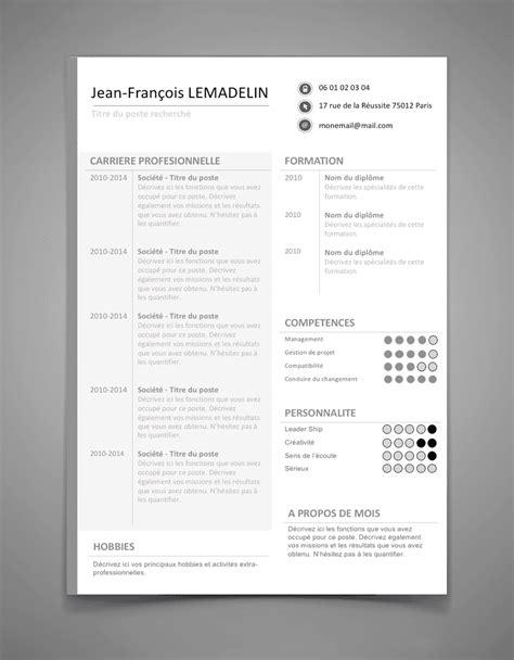 Les Exemples Des Cv by Les Meilleurs Exemples Des Cv Designs Et Modernes Format