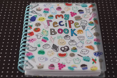 cahier de cuisine vierge my recipe book mon carnet de recettes kawai merci pour