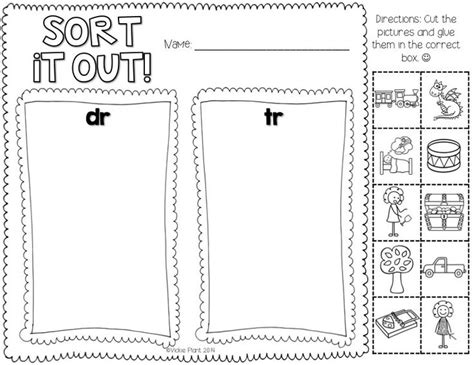 11 best images of blends cut and paste worksheets r