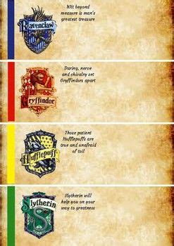 harry potter house group labels  nametags