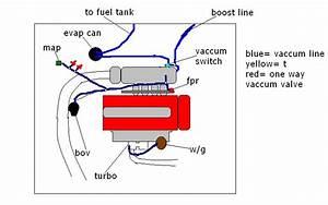 Gsr Turbo Vaccum Diagram  All Vaccum Line