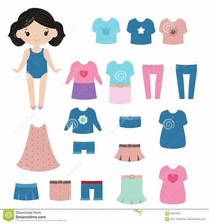 Doll Paper Dreamstime Clipart Background Clothing