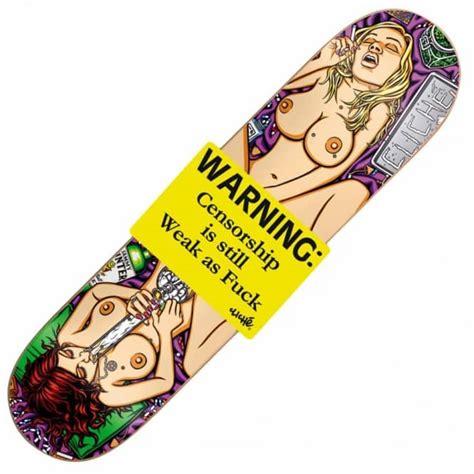 Cheap Cliche Skateboard Decks by Cliche Skateboards Cliche Sammy Winter Censorship Is Weak