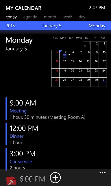 calendar  windows phone  windows central forums
