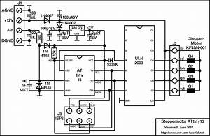 Steppermotor controller with attiny13 for Phase stepper motor driver schematic free download wiring diagram