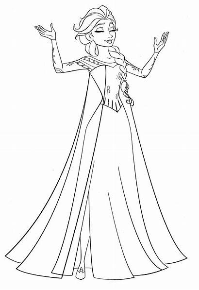 Elsa Coloring Disney Pages Queen Characters Walt