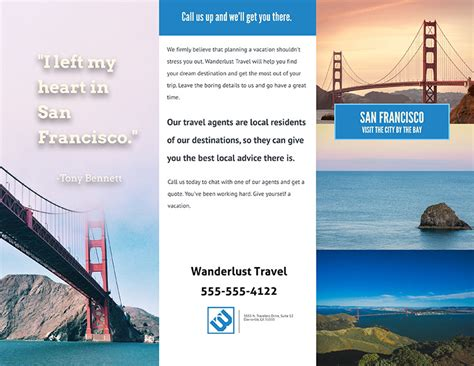 awesome travel brochure   templates