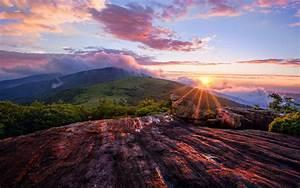 Beautiful mountain sunset landscape - HD wallpaper ...