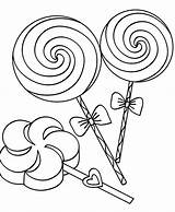 Lollipop Coloring Pages Candy Lollipops Swirl Getcoloringpages Clip sketch template