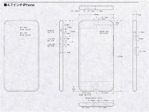 iphone 6 dimensions iphone 6 renderings based on leaked schematics highlight