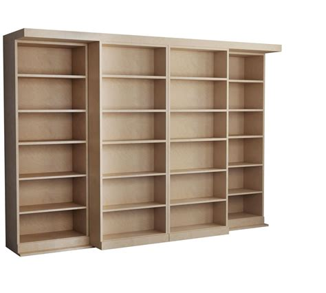 murphy bed bookcase plans rustic interior design with unfinished wood bookcases in