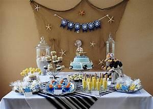 Kara39s party ideas nautical baby shower ocean sea for Nautical baby shower decorations
