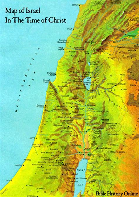 map  israel   time  christ chart   life