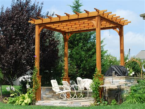 arbor height wooden pergolas pressure treated pine pergolas by baldwin outdoor comfort