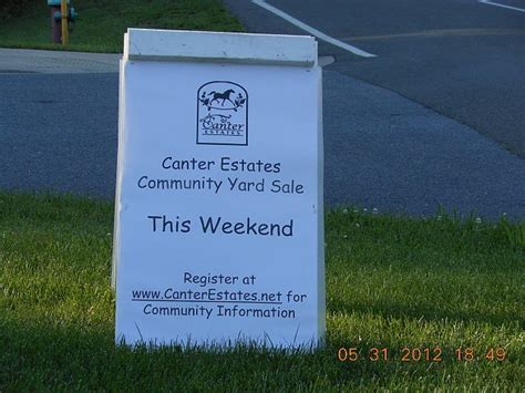 the canter estates annual community yard sale takes place