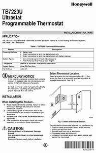 Honeywell Tb7220u Installation Instructions Manual Pdf