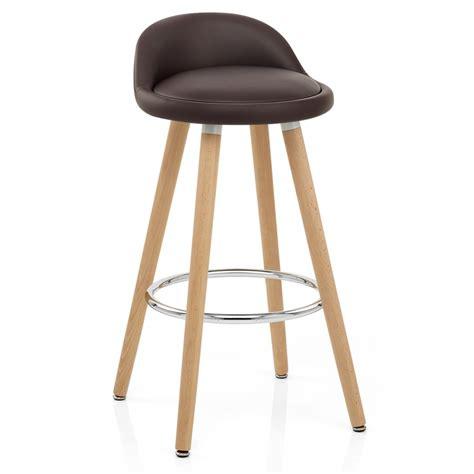 chaise de bar bois faux cuir jive monde du tabouret