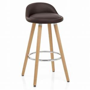 Chaise Bar Bois : chaise de bar bois faux cuir jive monde du tabouret ~ Teatrodelosmanantiales.com Idées de Décoration