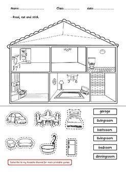 house rooms decoration worksheet worksheets