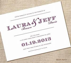 dreaded simple wedding invitation wording theruntimecom With simple wedding invitations with pictures