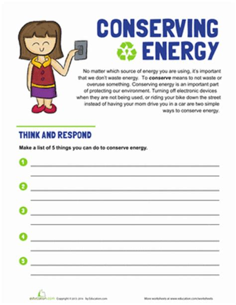 3rd grade science worksheets energy coloring pages