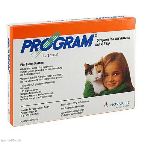program suspensfkatzen  kg mg ampullen  st