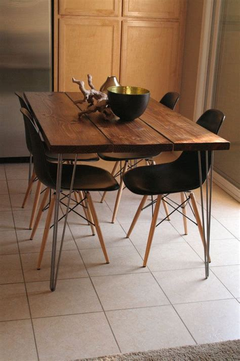 modern dining table legs organic modern rustic dining table with hairpin legs on