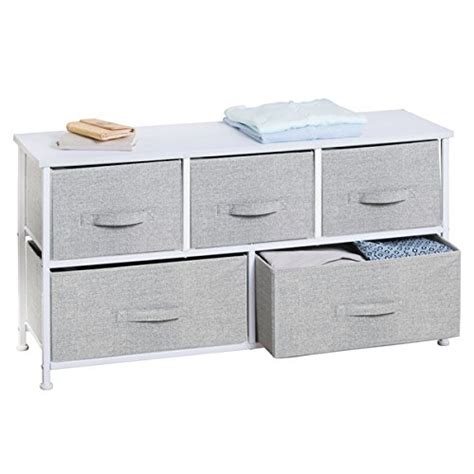 Closet Fabric Drawer by Mdesign Fabric 5 Drawer Storage Organizer Unit For Closet