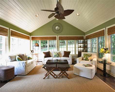 Sunroom Shades by Bamboo Shades In Sunroom Home Design