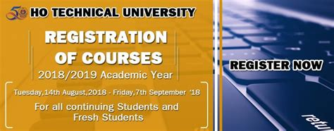 ho technical university registration ongoing
